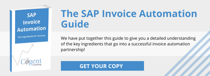 SAP Invoice Automation Guide - Cogent Consulting